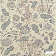 Zoffany Kalamkari 321699  | Curtain & Upholstery fabric - Blue, Fibre Blends, Floral, Garden, Jacobean, Traditional, Domestic Use, Standard Width