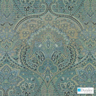 Duralee - Du16095-246 - Aegean  | Upholstery Fabric - Fire Retardant, Damask, Paisley, Synthetic, Traditional, Dry Clean