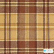 Duralee - Dw61166-34 - Pumpkin  | Upholstery Fabric - Brown, Fire Retardant, Gold,  Yellow, Terracotta, Check, Fibre Blends, Traditional, Dry Clean, Standard Width