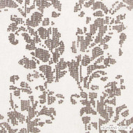 Highland Court - Ha61740-160 - Aerial - Mushroom | Curtain Fabric - Fire Retardant, Beige, Brown, Silver, Dry Clean, Embroidery, Abstract, Ogee