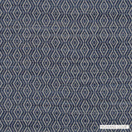Highland Court - Hu16241-193 - Concourse - Indigo  | Upholstery Fabric - Blue, Fire Retardant, Fibre Blends, Ikat, Mediterranean, Diamond - Harlequin, Dry Clean, Strie