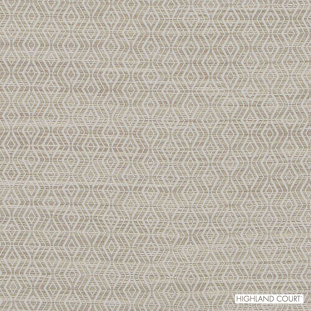 Highland Court - Hu16241-509 - Concourse - Almond  | Upholstery Fabric - Beige, Fire Retardant, Fibre Blends, Ikat, Mediterranean, Diamond - Harlequin, Dry Clean, Strie