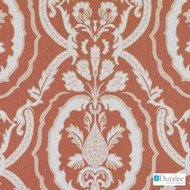 Duralee - Se42528-31 - Kathryn - Coral | Curtain & Upholstery fabric - Linen/Linen Look, Terracotta, Floral, Garden, Botantical, Dry Clean, Damask