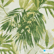 Duralee - Se72116-279 - Solei - Jungle Green  | Curtain & Upholstery fabric - Floral, Garden, Linen and Linen Look, Midcentury, Natural Fibre, Tropical, Dry Clean, Natural