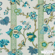 Bailey Griffin - 200010H-250 - Malabar - Sea Green | Curtain & Upholstery fabric - Linen/Linen Look, Green, Turquoise, Teal, Stripe, Traditional