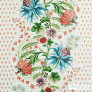 Bailey Griffin - 200014H-141 - Charmetie - Jewel  | Curtain & Upholstery fabric - Blue, Red, Floral, Garden, Stripe, Natural