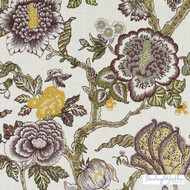 Bailey Griffin - 200018H-204 - Dumas - Amethyst   Curtain & Upholstery fabric - Linen/Linen Look, Green, Orange, Pink, Purple, Tan, Taupe, Natural