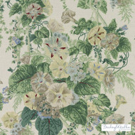 Bailey Griffin - 200020H-246 - Le Bambou - Aegean | Curtain & Upholstery fabric - Linen/Linen Look, Green, Floral, Garden, Botantical, Traditional