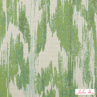 Lulu DK - 65013Ld-3 - Haven Ld - Green | Curtain & Upholstery fabric - Fire Retardant, Green, Outdoor Use, Bacteria Resistant, Abstract, Moire