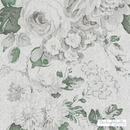 Bailey Griffin - Be42520-341 - Albrighton - Ivy  | Curtain & Upholstery fabric - Grey, Silver, Floral, Garden, Linen and Linen Look, Natural Fibre, Traditional, Dry Clean