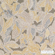 Bailey Griffin - Be42583-174 - Waddesdon - Graphite  | Cushion Fabric - Gold,  Yellow, Floral, Garden, Linen and Linen Look, Natural Fibre, Tropical, Animals, Dry Clean, Print