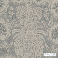 Bailey Griffin - Be42587-619 - Ricasoli - Seaglass  | Cushion Fabric - Beige, Grey, Silver, Floral, Garden, Linen and Linen Look, Natural Fibre, Dry Clean, Natural, Print