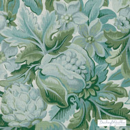 Bailey Griffin - Be42588-257 - Chateau De Blois - Moss | Cushion Fabric - Linen/Linen Look, Green, Floral, Garden, Botantical, Dry Clean, Natural