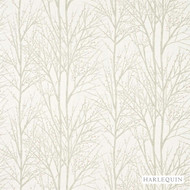 Harlequin Tabella 120246  | Curtain Fabric - White, Floral, Garden, Harlequin, Natural Fibre, Transitional, Commercial Use, Domestic Use, Natural, White, Standard Width