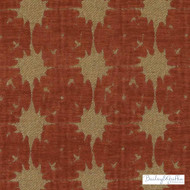 Bailey Griffin - Bu15852-366 - Saori - Crimson | Upholstery Fabric - Fire Retardant, Brown, Terracotta, Dry Clean, Geometric, Abstract, Stars