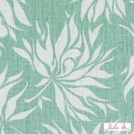 Lulu DK - Le42546-19 - Bella - Aqua | Cushion Fabric - Linen/Linen Look, Green, Turquoise, Teal, Floral, Garden, Botantical, Dry Clean, Natural