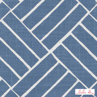 Lulu DK - Le42550-171 - Aurelian - Ocean  | Upholstery Fabric - Blue, Geometric, Linen and Linen Look, Natural Fibre, Commercial Use, Diamond - Harlequin, Dry Clean, Print