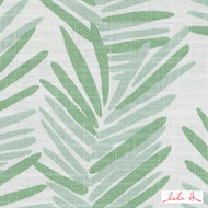 Lulu DK - Le42554-254 - Riviera - Spring Green  | Cushion Fabric - Floral, Garden, Linen and Linen Look, Midcentury, Natural Fibre, Tropical, Turquoise, Teal, Abstract, Print