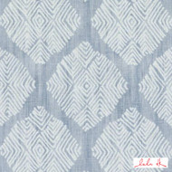Lulu DK - Le42555-7 - Talisman - Light Blue  | Cushion Fabric - Grey, Linen and Linen Look, Medallion, Midcentury, Natural Fibre, Diamond - Harlequin, Dry Clean, Natural