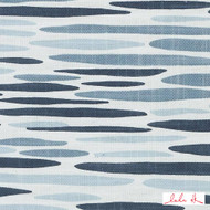 Lulu DK - Le42557-563 - Island - Lapis  | Cushion Fabric - Blue, Linen and Linen Look, Midcentury, Natural Fibre, Stripe, Abstract, Dry Clean, Natural, Print, Standard Width