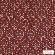 Lulu DK - Le42616-559 - Hendrix - Pomegranate  | Cushion Fabric - Brown, Burgundy, Terracotta, Floral, Garden, Linen and Linen Look, Natural Fibre, Dry Clean, Natural, Print