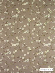 Pegasus Emi - Moleskin  | Curtain Fabric - Brown, Asian, Deco, Decorative, Farmhouse, Floral, Garden, Natural Fibre, Chinoise, Domestic Use, Dry Clean, Natural, Top of Bed