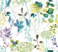 Bluebellgray - Botanical - Lupin - 58017-101  | Curtain & Upholstery fabric - Blue, Floral, Garden, Multi-Coloured, Natural Fibre, Natural, Standard Width, Watercolour