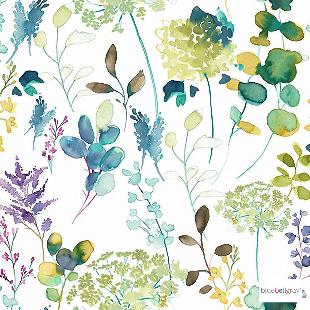Bluebellgray - Botanical Wallpaper - Lupin - 58005-101 | Wallpaper, Wallcovering - Blue, Green, Pink, Purple, Contemporary, Fibre Blend