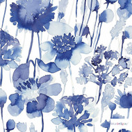 Bluebellgray - Corran Wallpaper 2 Roll Set - Cornflower - 58010-101 | Wallpaper, Wallcovering - Blue, Contemporary, Floral, Garden, Botantical