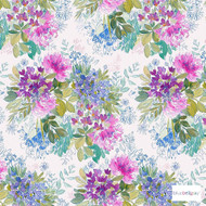 Bluebellgray - Ines Wallpaper - Bloom - 58007-101  | Wallpaper, Wallcovering - Blue, Contemporary, Fibre Blends, Watercolour