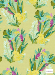 Bluebellgray - Jungle - Saffron - 58016-101 | Curtain & Upholstery fabric - Blue, Gold, Yellow, Green, Contemporary, Floral, Garden, Botantical