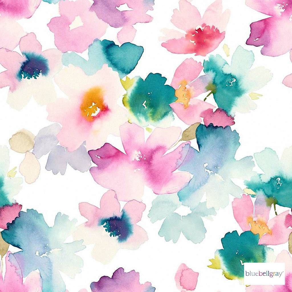 Bluebellgray - Sanna - Pastel - 58015-101 | Curtain & Upholstery fabric - Blue, Pink, Purple, Contemporary, Floral, Garden, Botantical, Abstract