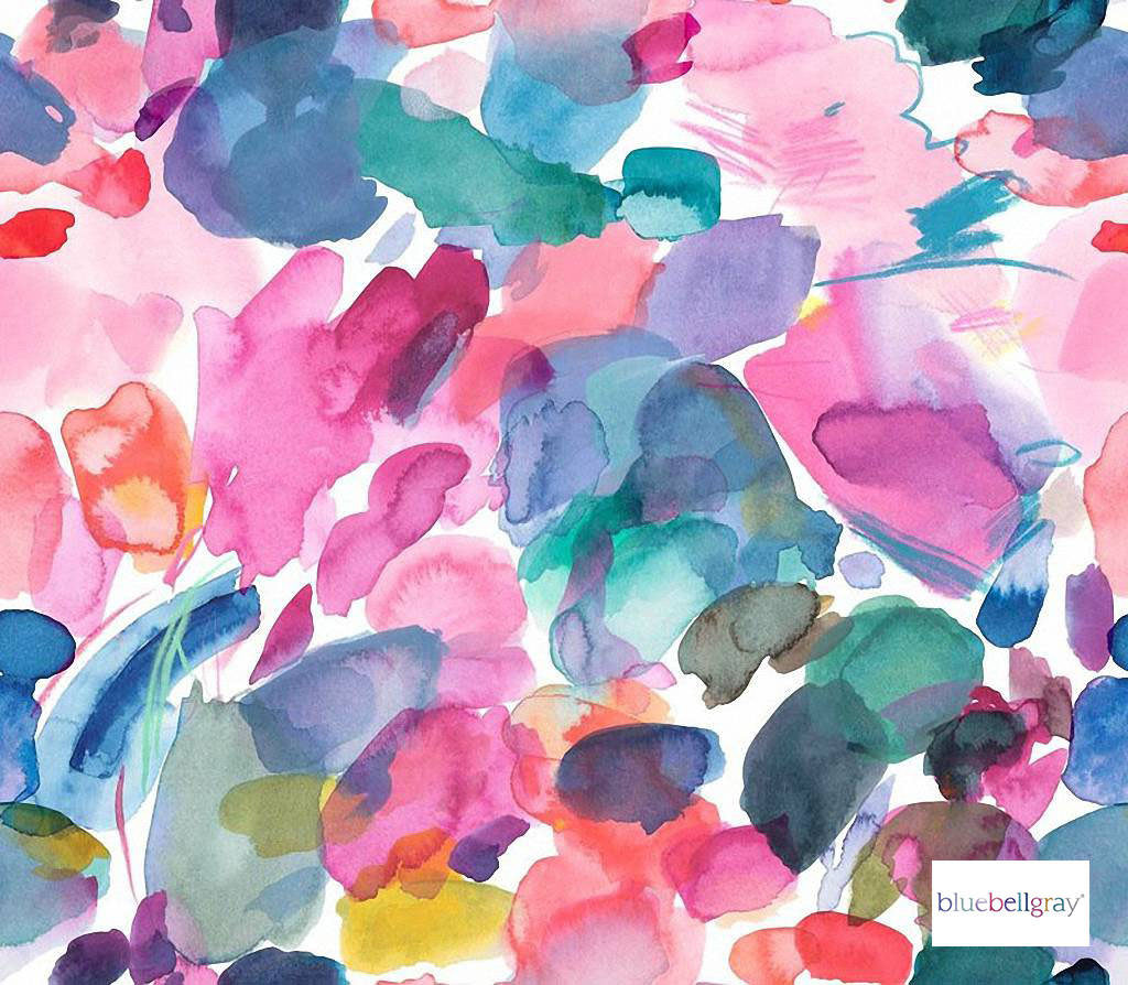Bluebellgray - Sienna - Cerise - 58046-101 | Curtain & Upholstery fabric - Blue, Pink, Purple, Contemporary, Floral, Garden, Botantical, Abstract