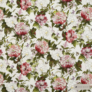 James Dunlop - Camellia - Rosehip - 12622-103  | Curtain & Upholstery fabric - Red, Floral, Garden, Natural Fibre, Pink, Purple, Domestic Use, Natural, Standard Width