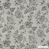 James Dunlop Essentials - Somerton FR - Pebble - 12603-104  | Curtain Fabric - Fire Retardant, Grey, Fibre Blends, Floral, Garden, Commercial Use, Standard Width