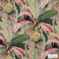 Catherine Martin By Mokum - La Palma - Coral - 12592-121  | Curtain Fabric - Red, Deco, Decorative, Floral, Garden, Natural Fibre, Pink, Purple, Natural, Wide Width