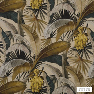 Catherine Martin By Mokum - La Palma - Gilver - 12592-321  | Curtain Fabric - Gold,  Yellow, Deco, Decorative, Floral, Garden, Natural Fibre, Tropical, Natural, Wide Width