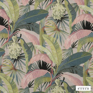 Catherine Martin By Mokum - La Palma - Hollywood - 12592-152  | Curtain Fabric - Deco, Decorative, Floral, Garden, Natural Fibre, Pink, Purple, Tropical, Natural, Wide Width