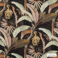 Catherine Martin By Mokum - La Palma - Sepia - 12592-894  | Curtain Fabric - Acoustic Dampening, Brown, Black - Charcoal, Deco, Decorative, Floral, Garden, Natural Fibre