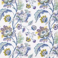 James Dunlop Essentials - Harvest - Cornflower - 13269-102  | Curtain & Upholstery fabric - Stain Repellent, Blue, Floral, Garden, Natural Fibre, Natural, Standard Width