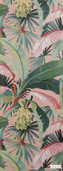 Catherine Martin By Mokum - La Palma Wallpaper - Coral - 12587-121  | Wallpaper, Wallcovering - Red, Deco, Decorative, Fibre Blends, Floral, Garden, Pink, Purple, Tropical