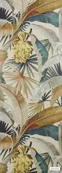 Catherine Martin By Mokum - La Palma Wallpaper - Gilver - 12587-321  | Wallpaper, Wallcovering - Gold,  Yellow, Deco, Decorative, Fibre Blends, Floral, Garden, Tropical