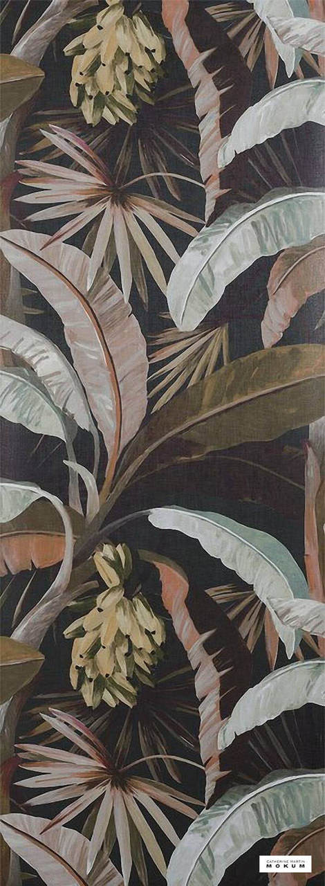 Catherine Martin By Mokum - La Palma Wallpaper - Sepia - 12587-894  | Wallpaper, Wallcovering - Brown, Black - Charcoal, Deco, Decorative, Fibre Blends, Floral, Garden
