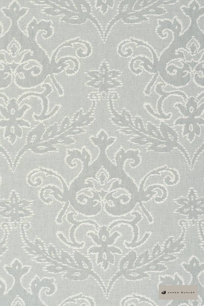 James Dunlop - Notting Hill - Crystal - 12549-104  | Curtain Fabric - Grey, Traditional, Acoustic Properties, Damask, Decorative, Natural, Rococo