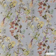 Pegasus - Agatha - Pebble - 19808-102  | Curtain Fabric - Grey, Floral, Garden, Natural Fibre, Natural, Top of Bed, Standard Width
