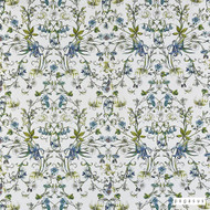 Pegasus - Lily - Stream - 19809-102  | Curtain Fabric - Floral, Garden, Natural Fibre, Natural, Top of Bed, Standard Width