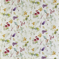 Pegasus - Wildflower - Blossom - 19812-101  | Curtain Fabric - Pink, Purple, Floral, Garden, Botantical, Farmhouse, Natural, Natural Fibre