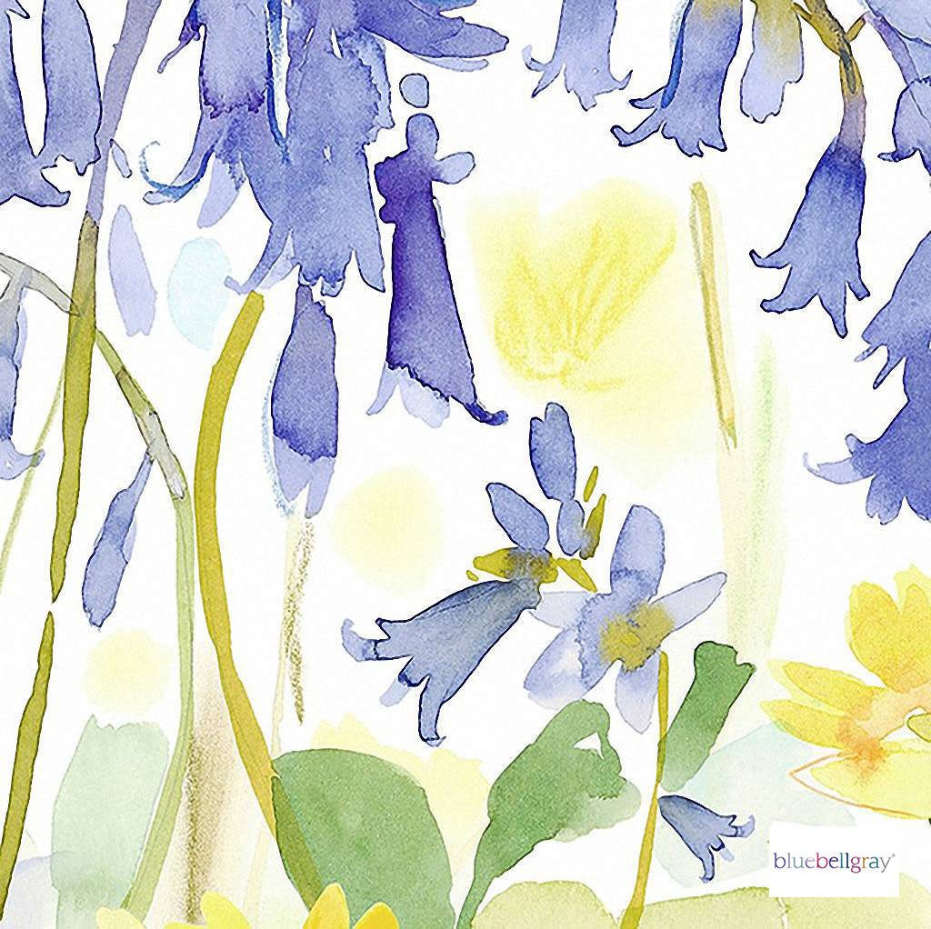 Bluebellgray - Bluebell Woods Wallpaper Mural - Spring - 57154-101    Wallpaper, Wallcovering - Blue, Gold, Yellow, Pink, Purple, Contemporary