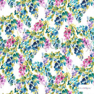 Bluebellgray - Catrin - Holly - 57226-101  | Curtain & Upholstery fabric - Blue, Floral, Garden, Multi-Coloured, Natural Fibre, Natural, Top of Bed, Standard Width