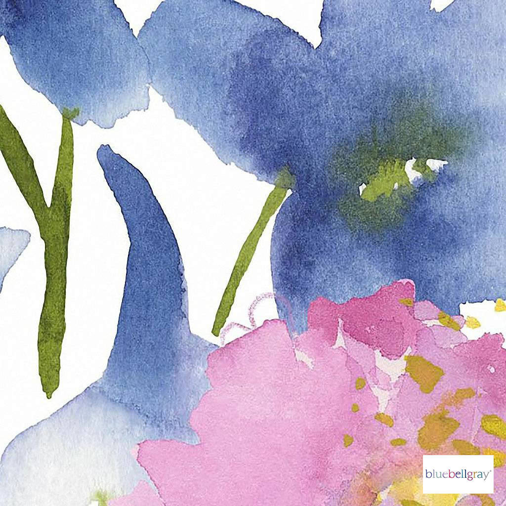 Bluebellgray - Florrie Wallpaper Mural - Summer - 57218-101  | Wallpaper, Wallcovering - Blue, Contemporary, Floral, Garden, Botantical, Fibre Blend